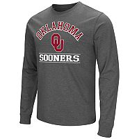 Men's Campus Heritage Oklahoma Sooners Wordmark Long-Sleeve Tee