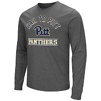 Men's Campus Heritage Pitt Panthers Wordmark Long-Sleeve Tee