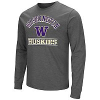 Men's Campus Heritage Washington Huskies Wordmark Long-Sleeve Tee