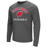 Men's Campus Heritage Wisconsin Badgers Wordmark Long-Sleeve Tee
