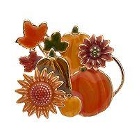 Pumpkin, Leaf & Flower Pin