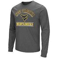 Men's Campus Heritage West Virginia Mountaineers Wordmark Long-Sleeve Tee