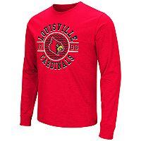 Men's Campus Heritage Louisville Cardinals Zigzag Long-Sleeve Tee