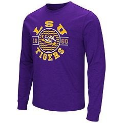 Men's Campus Heritage LSU Tigers Zigzag Long-Sleeve Tee