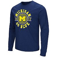Men's Campus Heritage Michigan Wolverines Zigzag Long-Sleeve Tee