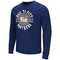 Men's Campus Heritage Pitt Panthers Long-Sleeve Graphic Tee