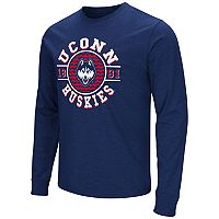 Men's Campus Heritage UConn Huskies Zigzag Long-Sleeve Tee