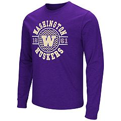 Men's Campus Heritage Washington Huskies Zigzag Long-Sleeve Tee