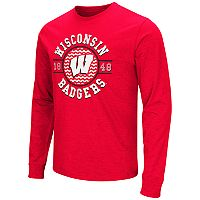 Men's Campus Heritage Wisconsin Badgers Zigzag Long-Sleeve Tee