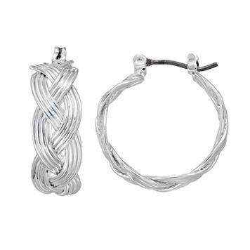 Napier Braided Hoop Earrings