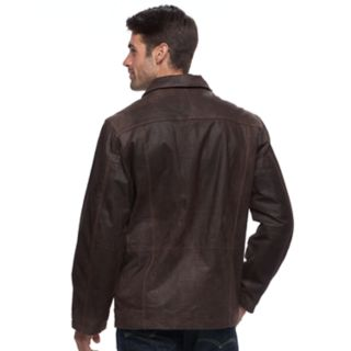 Men's Vintage Leather Straight-Bottom Leather Jacket