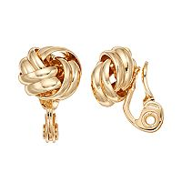 Napier Love Knot Clip On Earrings