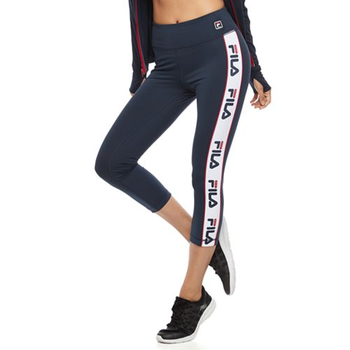 c84e821e4cc905 Women's FILA SPORT® Side Stripe Capri Leggings