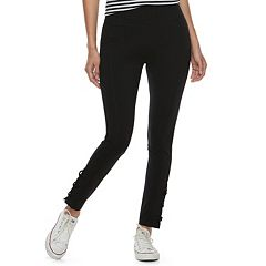 Junior's Mudd® Lace Up Ankle Leggings