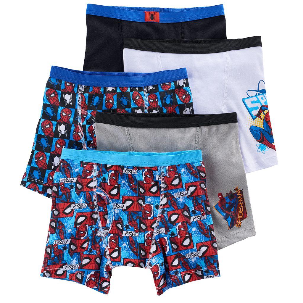 Boys Spider-Man 5-Pack Boxer Briefs