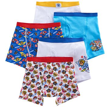 Boys 4-8 Paw Patrol 5-Pack Boxer Briefs