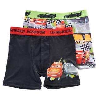 Boys 6-10 Disney Cars 2-Pack Boxer Briefs