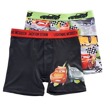 Boys 6-10 Disney Cars 2-Pack Boxer Briefs
