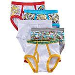 Boys 4-8 Captain Underpants 5-Pack Briefs