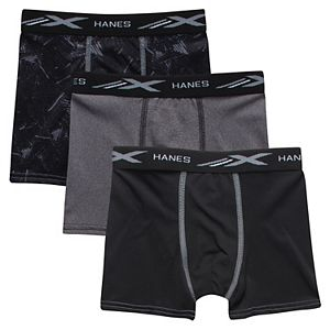 Boys Hanes 3-Pack X-Temp Performance Boxer Briefs