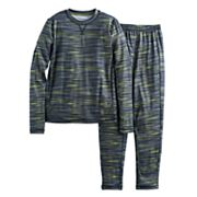 Boys Cuddl Duds Solid 2 pc Base Layer Set