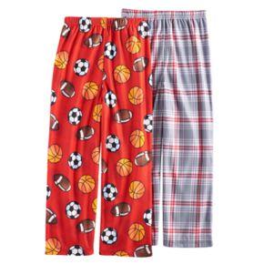 Boys 4-16 Up-Late 2-Pack Sports Plaid Lounge Pants