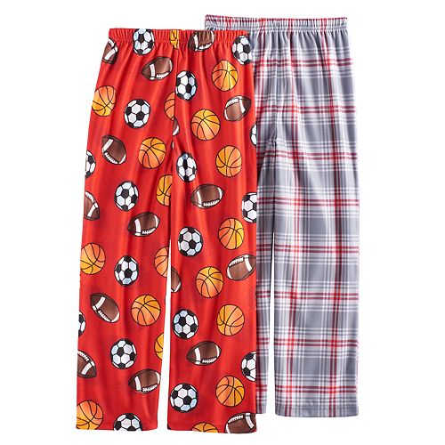 Boys 4-16 Up-Late 2-Pack Sports Plaid Lounge Pants