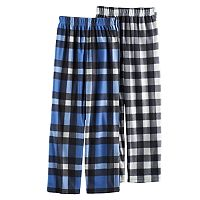Boys 6-18 Up-Late 2-Pack Plaid Lounge Pants