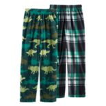 Boys 6-18 Cuddl Duds 2-Pack Dino Lounge Pants