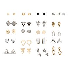 Mudd® 20 Pair Double Angle Earrings