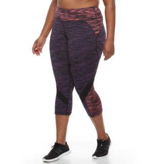 Plus Size Tek Gear® Performance Colorblocked Capris