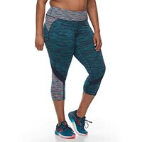 Plus Size Tek Gear® Performance Colorblocked Capris