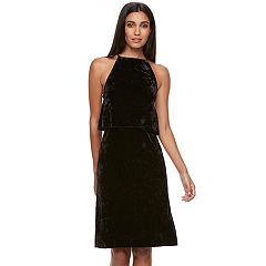 Women's Apt. 9® Popover Velvet Slip Dress