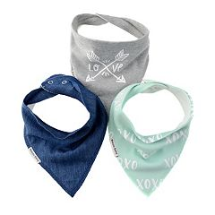 Bazzle Baby 3-pk. Arrows & 'XOXO' Bandana Bib Set