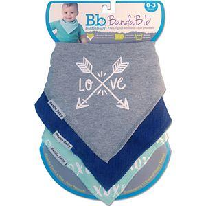 "Bazzle Baby 3-pk. Arrows & ""XOXO"" Bandana Bib Set"