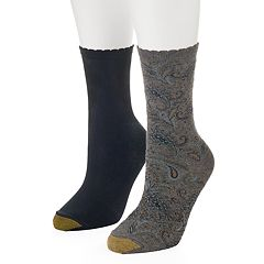 Women's GOLDTOE 2-pk. Paisley Scalloped Crew Socks