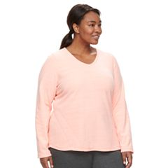 Plus Size Tek Gear® Microfleece V-Neck Top