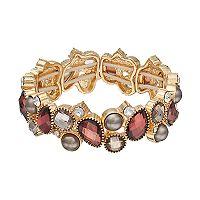 Napier Stone Cluster Stretch Bracelet