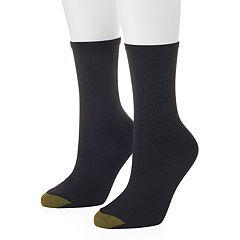 Women's GOLDTOE 2 pkFloral Microfiber Crew Socks