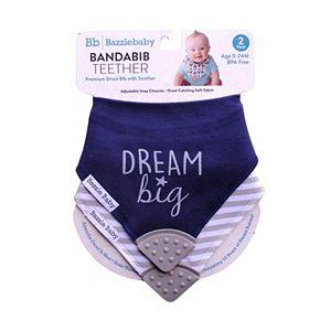 Bazzle Baby 2-pk. Arrows & Chunky Stripe Bandana Bib with Teether Set