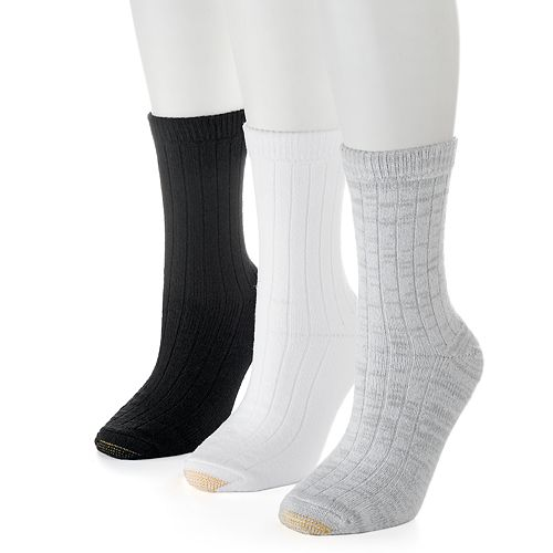 Women's GOLDTOE 3-pk. Ultra Soft & Cozy Ribbed Crew Socks