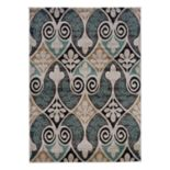 Linon Milan Floral Scroll Rug