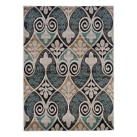 Linon Milan Floral Scroll Rug