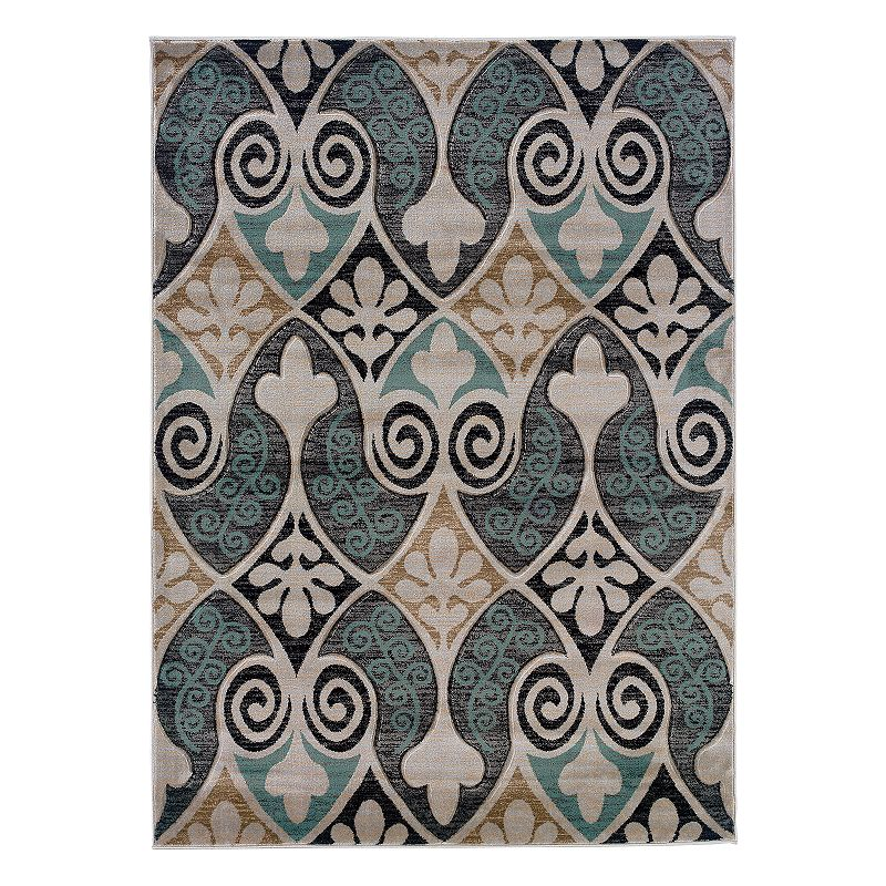 Linon Milan Floral Scroll Rug, Black, 8X10 Ft Get the look you've been searching for with this Linon Milan Floral Scroll rug. In black/blue.FEATURES Powerloomed Plush heat-set pile Floral scroll pattern CONSTRUCTION & CARE Polypropylene Pile height: 0.5'' Spot clean Manufacturer's 1-year limited warrantyFor warranty information please click here Imported Attention: All rug sizes are approximate and should measure within 2-6 inches of stated size. Pattern may also vary slightly. This rug does not have a slip-resistant backing. Rug pad recommended to prevent slipping on smooth surfaces. . Size: 8X10 Ft. Gender: unisex. Age Group: adult. Pattern: Novelty.