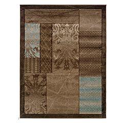 Linon Milan Framed Patchwork I Rug