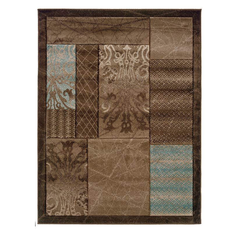 Linon Milan Framed Patchwork I Rug, Brown, 5X7 Ft Bring it all together with this Linon Milan Framed Patchwork I rug. In brown.FEATURES Powerloomed Plush heat-set pile Framed border Patchwork pattern CONSTRUCTION & CARE Polypropylene Pile height: 0.5'' Spot clean Manufacturer's 1-year limited warrantyFor warranty information please click here Imported Attention: All rug sizes are approximate and should measure within 2-6 inches of stated size. Pattern may also vary slightly. This rug does not have a slip-resistant backing. Rug pad recommended to prevent slipping on smooth surfaces. . Size: 5X7 Ft. Gender: unisex. Age Group: adult. Pattern: Novelty.