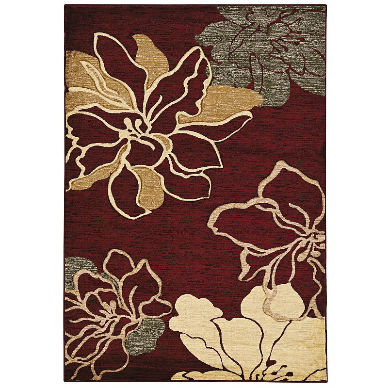 Linon Milan Floral Rug, Red, 2X3 Ft This Linon Milan Floral rug is the perfect pick for your home. In red.FEATURES Powerloomed Plush heat-set pile Floral pattern CONSTRUCTION & CARE Polypropylene Pile height: 0.5'' Spot clean Manufacturer's 1-year limited warrantyFor warranty information please click here Imported Attention: All rug sizes are approximate and should measure within 2-6 inches of stated size. Pattern may also vary slightly. This rug does not have a slip-resistant backing. Rug pad recommended to prevent slipping on smooth surfaces. . Size: 2X3 Ft. Gender: unisex. Age Group: adult.