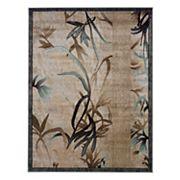 Linon Milan Framed Leaf Rug