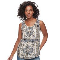 Women's SONOMA Goods for Life™ Print Pintuck Tank