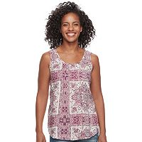 Women's SONOMA Goods for Life™ Print Pintuck Tank